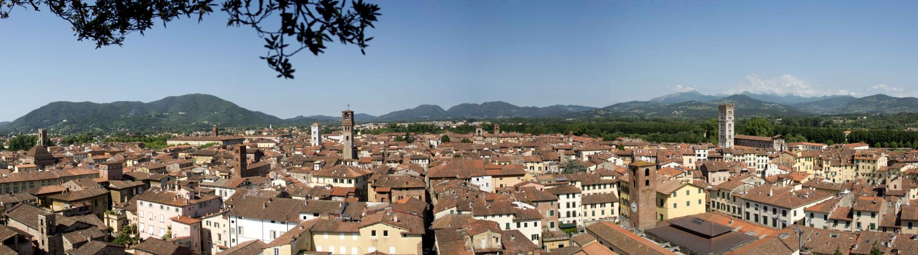 Lucca: panoramica ovest